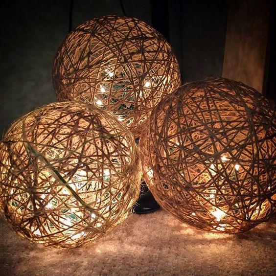 Decoración navideña bolas de luz